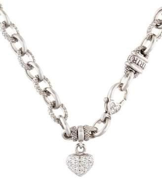 Judith Ripka 18K Diamond Heart Pendant Necklace