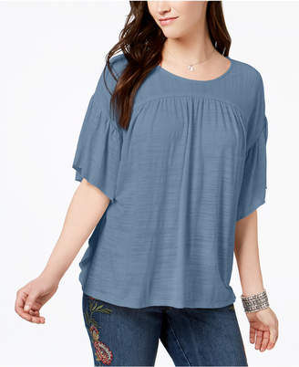 Style&Co. Style & Co Flutter-Sleeve Poncho Top, Created for Macy's