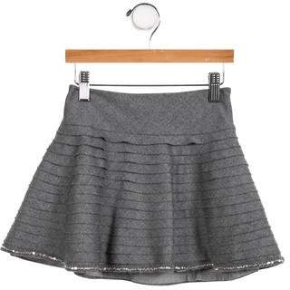 Simonetta Kids Girls' Wool Mini Skirt