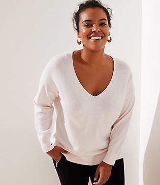 LOFT Plus V-Neck Sweater