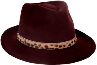 Philip Treacy Leopard Band Felt Trilby Hat
