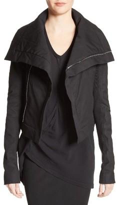 Women's Rick Owens Stretch Cotton Biker Jacket $1,580 thestylecure.com