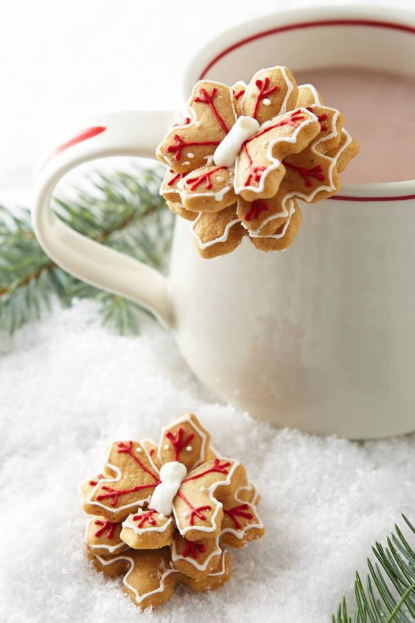 Anthropologie Snowflake Mug Toppers
