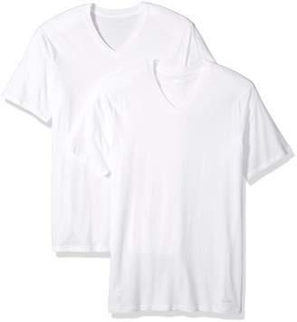 Calvin Klein Men's Tall-2 Pack Cotton Classics Short Sleeve V-Neck T-Shirts