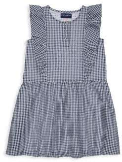 Andy & Evan Little Girl's Puckered Gingham Ruffle Cotton Dress