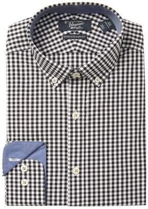 Original Penguin Heritage Slim Fit Black Check Dress Shirt