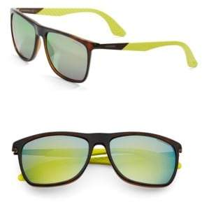 Carrera 56mm Rectangle Sunglasses
