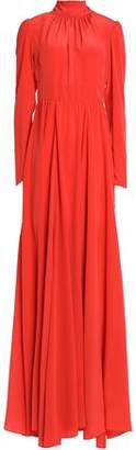 Rochas Gathered Silk Gown
