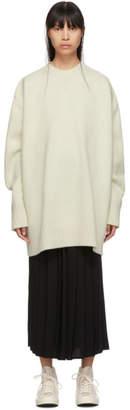 Studio Nicholson Beige Oversized Yocto Sweater