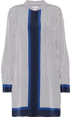 Equipment Belen Pinstriped Silk Mini Shirt Dress