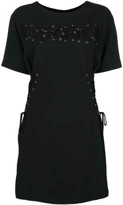 Moschino lace-up detail dress