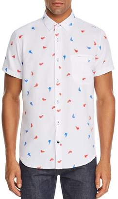 Sovereign Code Pismo Short-Sleeve Kicks-Print Regular Fit Shirt