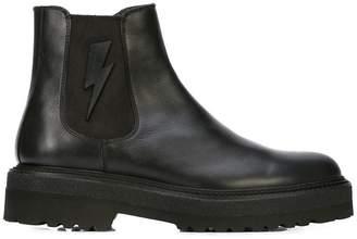 Neil Barrett lightning bolt boots