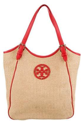 f468cc94c Tory Burch Leather-Trimmed Shoulder Bag