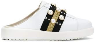 Alberto Gozzi pearl embellished mule sneakers