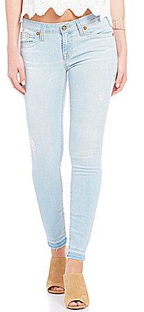 Big StarBig Star Alex Release Hem Distressed Woven Stretch Ankle Skinny Jeans