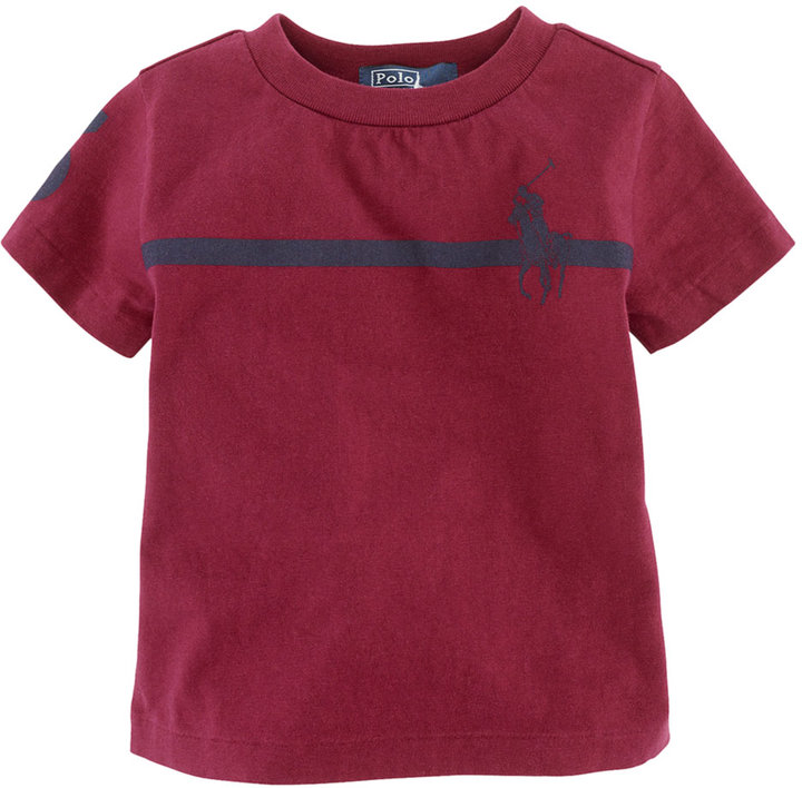 RALPH LAUREN CHILDRENSWEAR Baby Boys 12-24 Months Short-Sleeved Striped Cotton Jersey T-Shirt