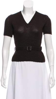 Louis Vuitton Belted Knit Top