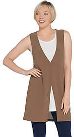 Women with Control Attitudes by Renee Moss Crepe 2-pc. SleevelessOverlay Tunic