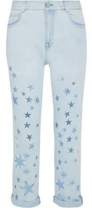 Stella McCartney Metallic Printed Mid-rise Straight-leg Jeans