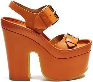 STELLA MCCARTNEY Slingback faux-leather platform heels $687 thestylecure.com