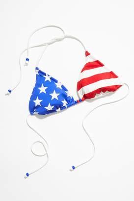Vintage Loves Vintage 1980s American Flag Bikini Top