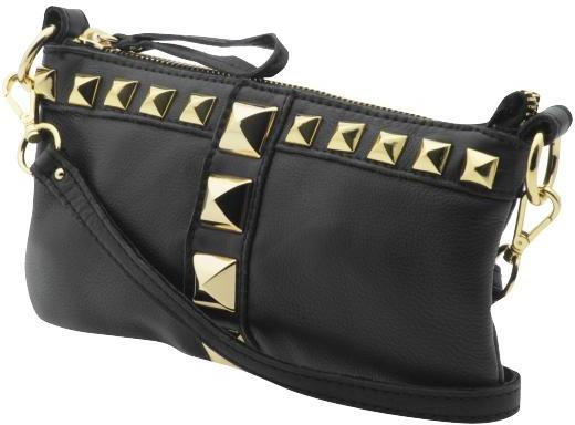 Linea Pelle Pyramid Stud Top Zip Mini