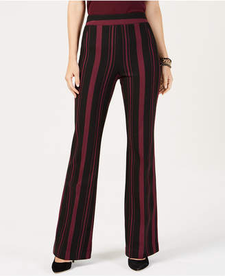 INC International Concepts I.n.c. Curvy Striped Ponte-Knit Bootcut Pants
