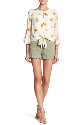 June & Hudson Scallop Hem Shorts