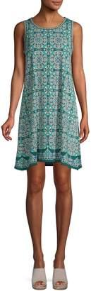 Max Studio Printed Trapeze Dress