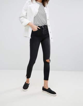 Noisy May Lexi Ankle Slit Skinny Jeans