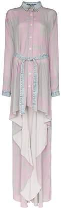 Natasha Zinko denim-trim asymmetric shirt dress