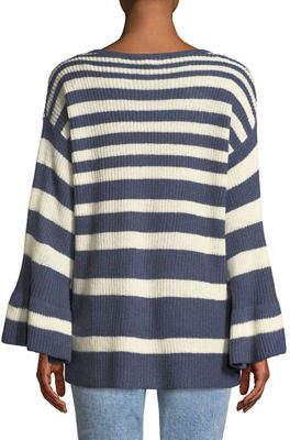 Shanty Soho Knit Striped Bell-Sleeve Sweater