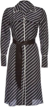 Karl Lagerfeld Printed Silk Shirt Dress