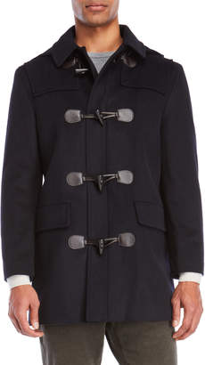 Lauren Ralph Lauren Navy Hooded Toggle Coat