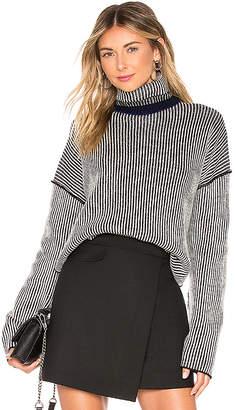Theory Oversized Stripe Sweater
