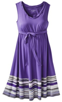 Liz Lange for Target® Maternity Twist-Neck Knit Dress - Purple Violet