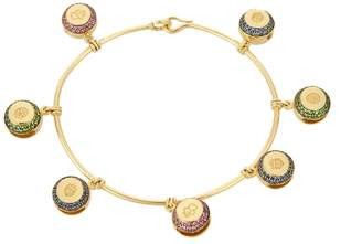 Aurelie Bidermann FINE JEWELLERY Bells multi-stone & yellow-gold bracelet