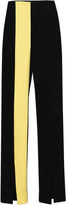 George Keburia Color Block Velvet Pant