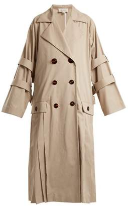 Isa Arfen Oversized Pleated Trench Coat - Womens - Beige