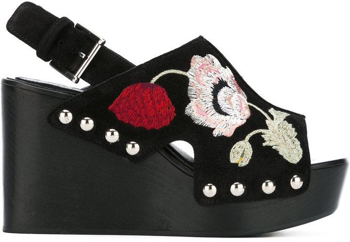 Alexander McQueenAlexander McQueen embroidered wedge sandals