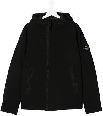 Stone Island Junior TEEN soft shell hooded jacket