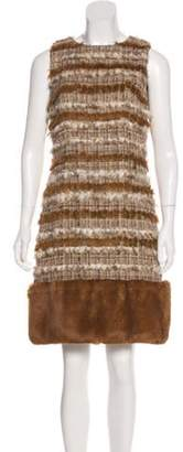Chanel Fantasy Fur Tweed Dress Beige Fantasy Fur Tweed Dress