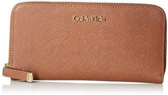 Calvin Klein Saffiano Leather Zip Continental Wallet