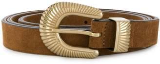 Eleventy textured buckle belt