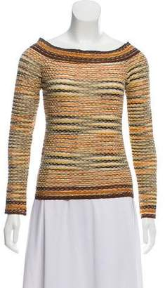 Missoni Long Sleeve Patterned Top