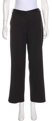 Karl Lagerfeld Wool-Blend Mid-Rise Pants