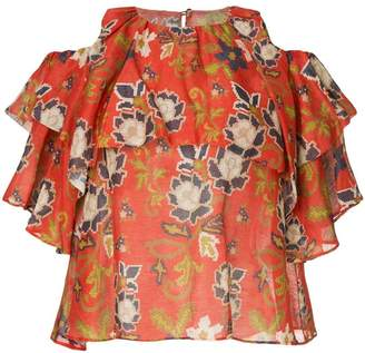 Muller of Yoshio Kubo Muller Of Yoshiokubo cross ribbon blouse
