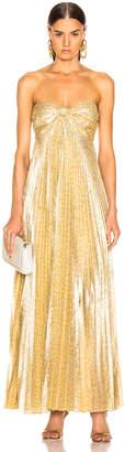 Alexis Joya Dress in Gold Lame | FWRD