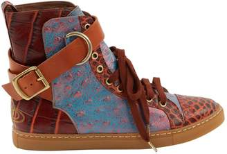 Vivienne Westwood Red Leather Trainers